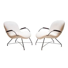 Rare Martin Eisler chairs | From a unique collection of antique and modern armchairs at http://www.1stdibs.com/furniture/seating/armchairs/