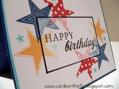 PTI Star Prints - Betsy Veldman did a MIM video, on making cardstock look like vellum; I love the effect here