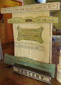 Repurposed Antique French Bed Rails