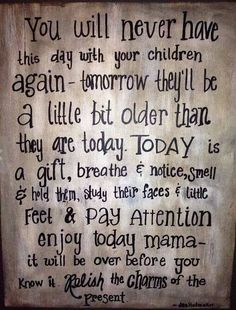 Live in the present with your loved ones, especially your littles as it goes sooo very fast ❤️✨✨