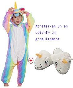 3c0026755493c Pyjama Enfants Unisexe Animaux Pyjama Combinaison de Nuit Grenouillère Noel  Halloween Cosplay Costume