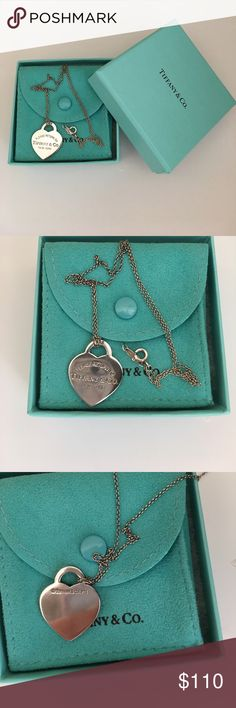 Tiffany & co. Heart necklace. Like new, only worn a few times. Comes with a dust bag and Tiffany and co. Box. Price negotiable! Tiffany & Co. Jewelry Necklaces