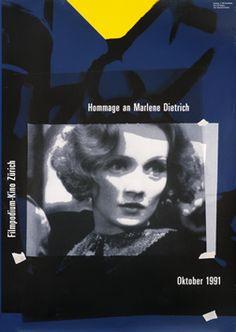 Paul Bruhwiler (designer), Filmpodium - Marlene Dietrich, 1991.