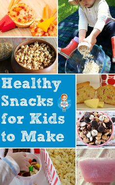 Need some recipes for healthy snacks that the kids can help you make? Look no further!