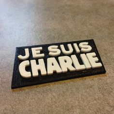 Badge Je suis charlie  3D #3D #3Dprint #3Dprinting [more pics on Cults website]