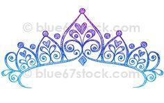 Princess Tiara Crown Doodle Drawing Vector Illustration by blue67design , via Flickr