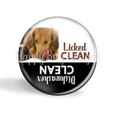 Licked Clean or Dishwasher Clean Doxie by HappyBugDesigns on Etsy