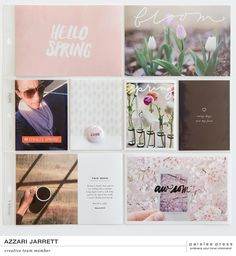 I continue to enjoy being a part of the Paislee Press Creative Team. Liz  has some really great designs this month for Spring.  Here's a look at my layouts in April.  I loved using the Bloom Journal cards for this spread.I also incorporated  a fewof the Bloom digitals elementson top of my photos. The bottom left  photois a part of minimalist 4x6 photo templates- a perfect way to add  journaling to this spread.I also added the'awesome' photo template withmy iPhone capture of Spring…