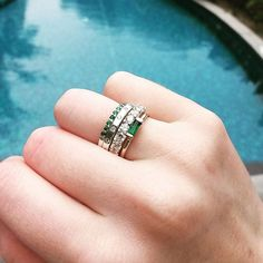 Good things come in stacks!  #emeralds #diamonds #sarahgreenfinejewellery