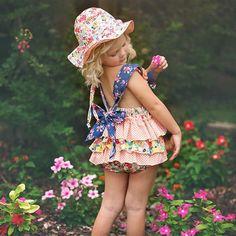 26f6b9ba450f Haute Baby Calypso Infant  amp  Toddler Girls Sunsuit. Toddler Sun Hat