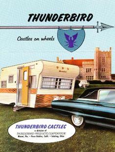 Vintage Literature Reproductions : 1966 - Thunderbird Travel Trailer ~ RV Camper Brochure