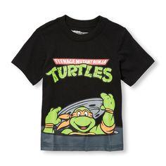 """Camiseta estampada """"Teenage Mutant Ninja Turtles"""" con diseño de Michelangelo, mangas cortas, para niños pequeños"""