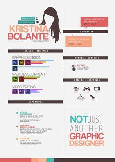Curriculum Vitae by Kristina Bolante, via Behance