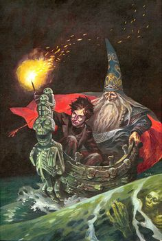 Swedish cover for Harry Potter and the Half-Blood Prince, illustrated by Alvaro Tapia.