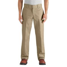 Dickies Men's Regular Straight Fit Flex Twill Pant- Desert Sand 34x30