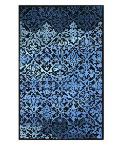 Loving this Blue Umev Wool Rug on #zulily! #zulilyfinds