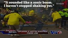 Melissa Stanley, who watched her daughter cross the finish line 4 minutes before the explosions, reacts to what she heard in Boston.
