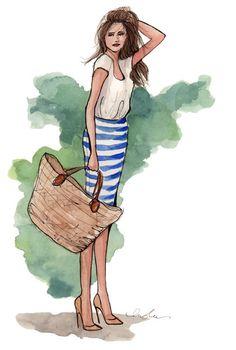 девушки, акварель, girls, watercolor