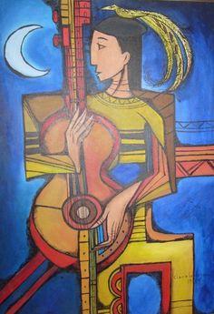 Clara Ledesma-Mujer con guitarra