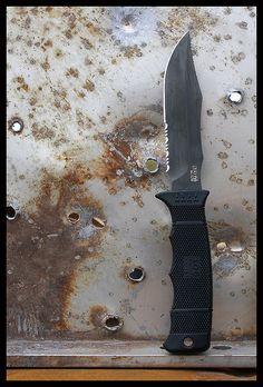 SOG Seal Pup Elite - Get it here... http://www.osograndeknives.com/store/catalog/fixed-blade-military-knives/sog-e37t-k-seal-pup-elite-black-tini-comboedge-kydex-sheath-5633.html