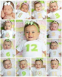 Take a picture of your baby every month starting from newborn to a year! :)