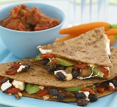 Healthy Dinner Recipes: Cheesy Veggie Quesadilla (via Parents.com)
