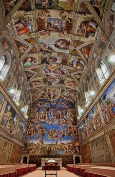 Michelangelo's Sistine Chapel- no words to describe how much I want to see this! #1 bucket list!!!