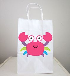 Crab Goody Bags, Crab Party Favor, Goody, Gift Bags - Under the Sea, Finding Nemo, Ocean Party by CraftyCue on Etsy