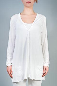 Chaqueta básica blanca en www.clfashionable.com