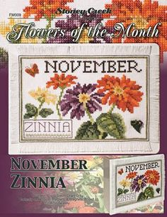 Flowers of the Month - November - Cross Stitch Pattern