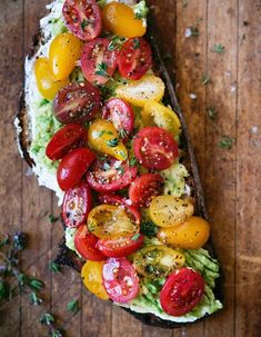 Loaded avocado toast with thyme, tomatoes and ricotta - vegetarian recipes . - Loaded avocado toast with thyme, tomatoes and ricotta – vegetarian recipes …, - Avocado Toast, Avocado Salad, Egg Salad, Avocado Smoothie, Potato Salad, Guacamole, Clean Eating Snacks, Healthy Snacks, Healthy Tuna