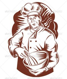 Realistic Graphic DOWNLOAD (.ai, .psd) :: http://sourcecodes.pro/pinterest-itmid-1005198973i.html ... Chef Holding Mixing Bowl ...  baker, bowl, chef, cook, hat, illustration, male, man, mixer, mixing, retro, woodcut, worker  ... Realistic Photo Graphic Print Obejct Business Web Elements Illustration Design Templates ... DOWNLOAD :: http://sourcecodes.pro/pinterest-itmid-1005198973i.html