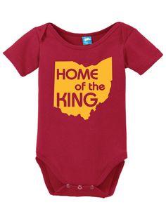 Home of the King Lebron Onesie Funny Bodysuit Baby Romper