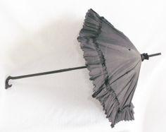 Civil War Era Victorian Folding Black Silk by MyVintageHatShop, $190.00