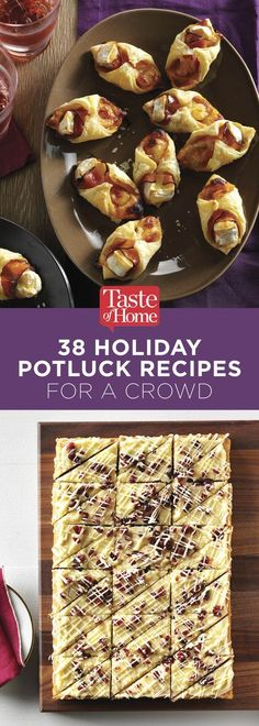45 Holiday Potluck Recipes for a Crowd 38 Holiday Potluck Recipes for a Crowd (from Taste of Home) recipes potluck Potluck Desserts, Best Potluck Dishes, Easy Potluck Recipes, Work Potluck, Desserts For A Crowd, Holiday Recipes, Christmas Recipes, Recipes For A Crowd, Potluck Meals