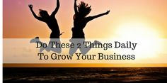Have you ever wondered what you needed to do to grow your business? So many times it seemed like I was stuck in slow motion. Do These 2 Things Daily To Grow Your Business Doesn t matter what business you are in. You could be in a retail store, you can have an online business, a [ ] The post Do These 2 Things Daily To Grow Your Business appeared first on Mark Nelson Online.