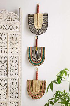 African Market Baskets Hand-Woven Bolga Fan