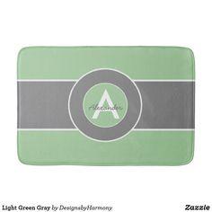 Light Green Gray Bath Mat