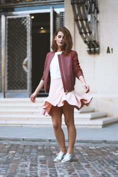 What better way to tap into this season's love of pink and burgundy than putting them together? Girl Power, Black And Grey, Colors, Pink, Jackets, Dresses, Design, Fashion, Down Jackets