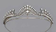 Antique Diamond Tiara. c.1870.  Christies. by chrystal