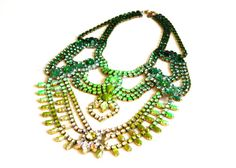 SALE- Emerald Classic Ombre Statement Necklace (Exact sample as worn by Christina Milian on The Voice) way to spendy for my budget, but it's gorgeous! Maybe someday when I win the lottery, haha guess I should actually buy a ticket one of these days.