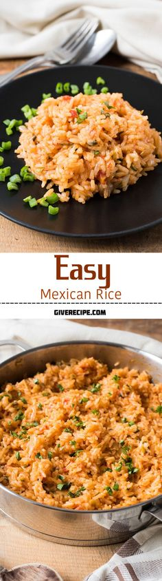 Easy Mexican Rice is a restaurant style Mexican food with my touch. Maybe even better than the ones served at restaurants! | giverecipe.com