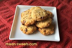 Almond Flour Cookies With Coconut & Chocolate Chips
