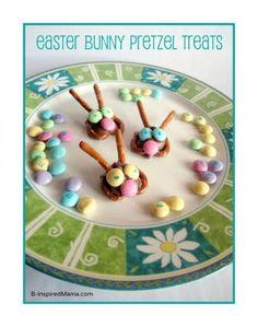 Easter Bunny Pretzel Treats