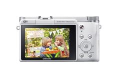 Samsung NX3000 Wireless Smart 20.3MP Mirrorless Digital Camera with 16-50mm OIS Power Zoom Lens and Flash (White)  NX3000 is at compact and light interchangeable lens camera, giving you great quality images with rich color.  The large APS-C 20.3MP CMOS Sensor delivers shots which are bursting with sharp detail even in low light.  The Retro Design with premium metal accents, makes the NX3000 exquisitely modern with just the perfect touch of analogue.  The Smart Wi-Fi features let you ..