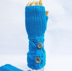 Hanknitted Fingerless Mittens Cable Mittens Mittens by evefashion, £25.00