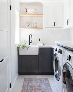 20 tips will help you improve the environment in your bedroom Laundry day never looked so chic! Design by and photo by To see more of the space head to the link is in our bio! Küchen Design, House Design, Interior Design, Room Interior, Laundry Room Inspiration, Laundry Room Remodel, Laundry Room Design, Laundry Decor, Room Goals
