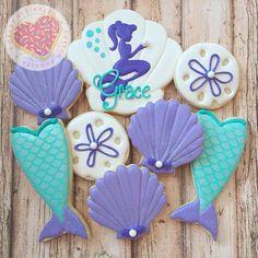 Mermaid cookies for my baby girl. #birthdayparty #birthday #mermaid…