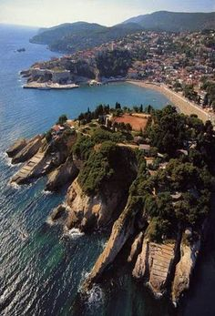 Ulcinj, Montenegro. Ulcinj is the southernmost city in Montenegro and is on the Montenegrin coast. It has the longest beach on the Adriatic sea – Velika Plaza that is 13 km long.