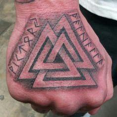 Viking tattoo symbal is called Valknut